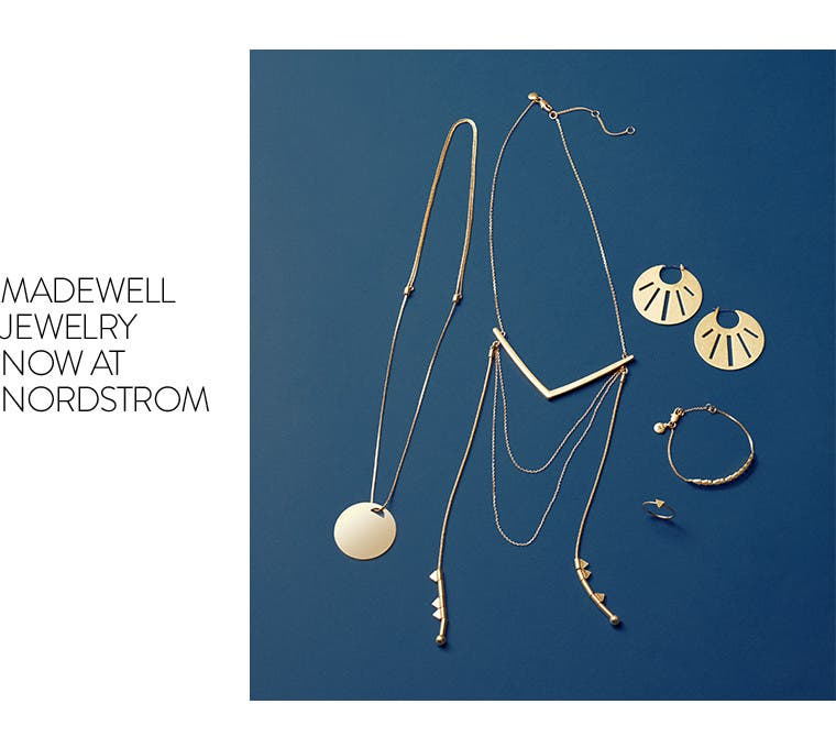 Madewell jewelry now at Nordstrom.