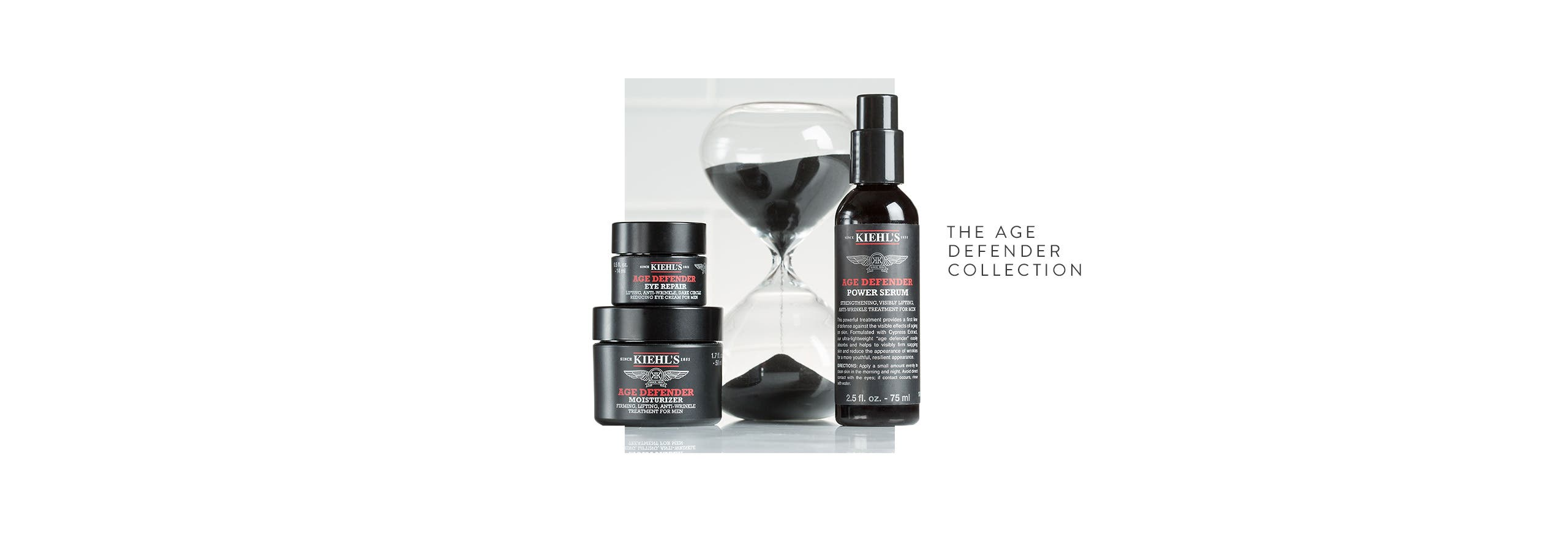 Kiehl's Age Defender collection for men.