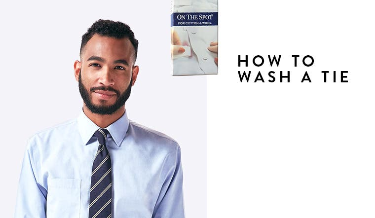 How to wash a tie.