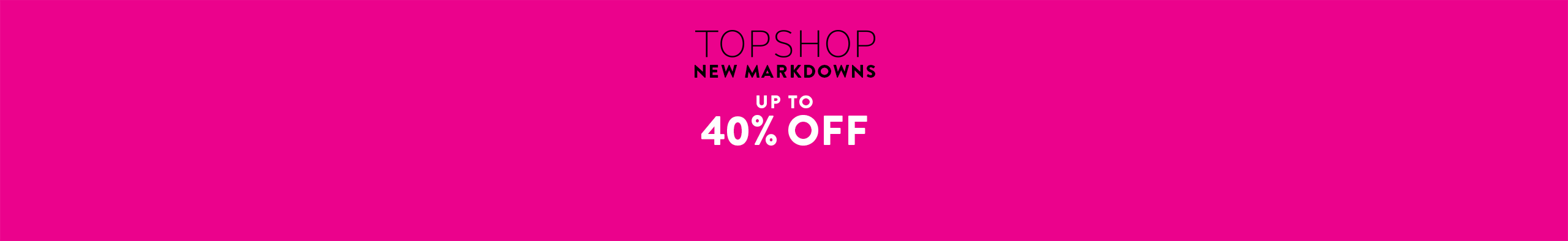 Topshop sale: up to 40% off women's clothing, shoes and accessories