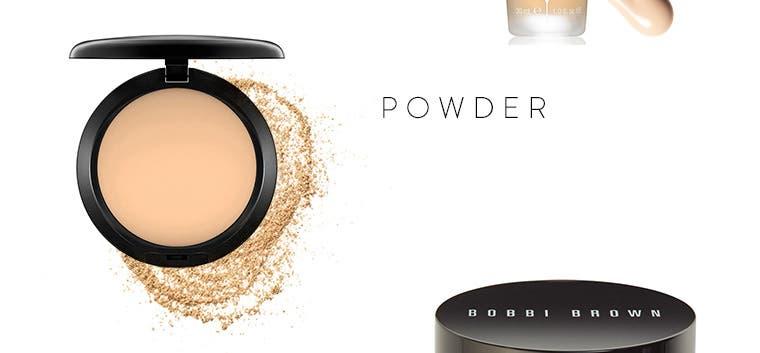 Powder foundations.