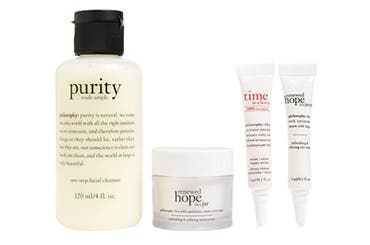 philosophy skin care gift with purchase.