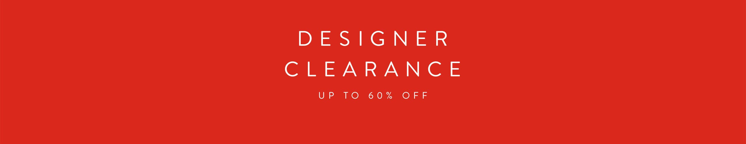 Women's Designer Clearance: up to 60% off.