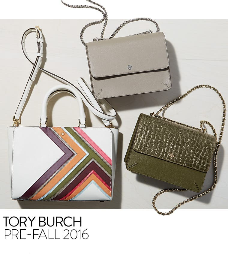 Tory Burch pre-fall handbags.