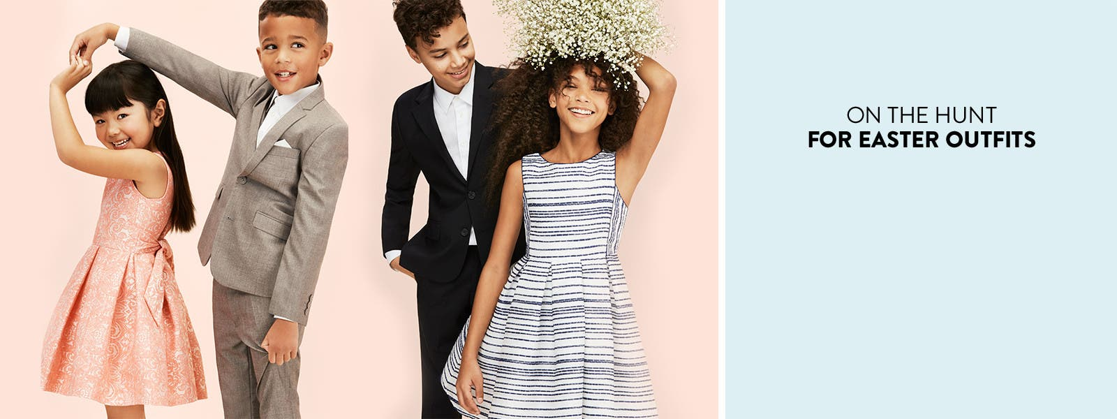 On the hunt for Easter outfits. Kids' clothing for Easter, parties and other special occasions.