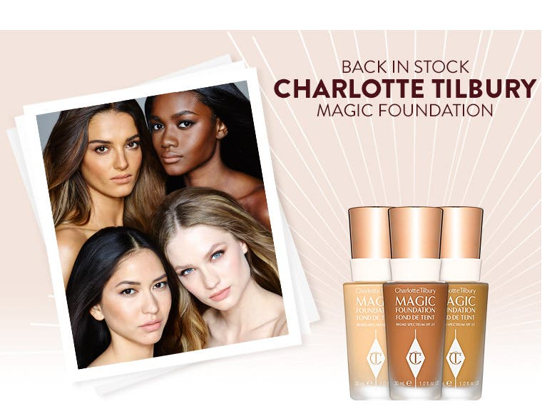 Back in stock- Charlotte Tilbury Magic Foundation.