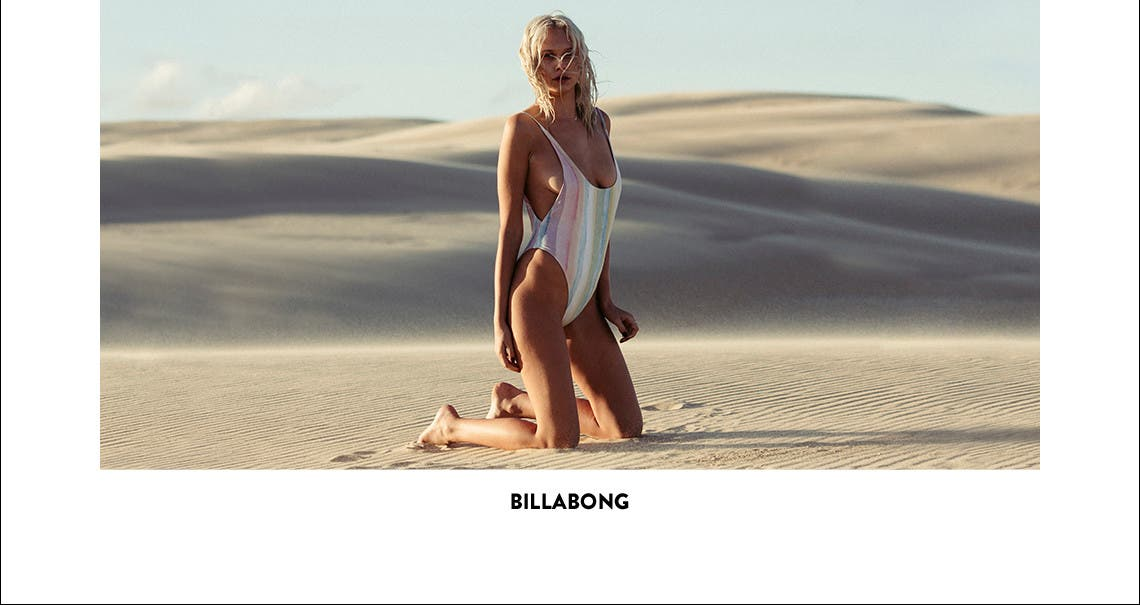 Billabong and more swimwear.