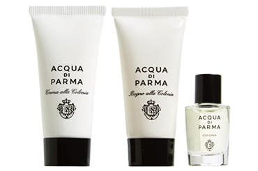 Acqua di Parma gift with purchase.