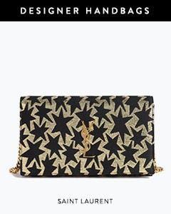 Designer handbags: Saint Laurent handbag.