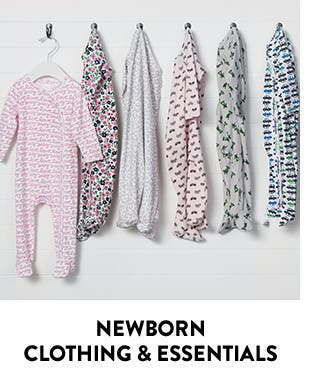 Newborn clothing and essentials.