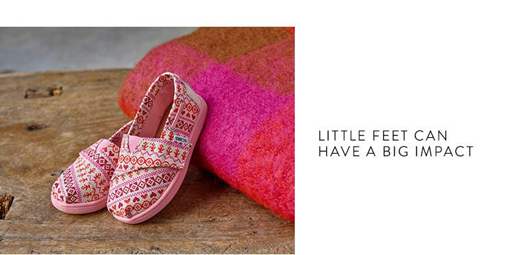 little feet can have a big impact. TOMS kids shoes.