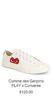 Comme des Garçons PLAY x Converse Chuck Taylor® Low Top Sneaker.