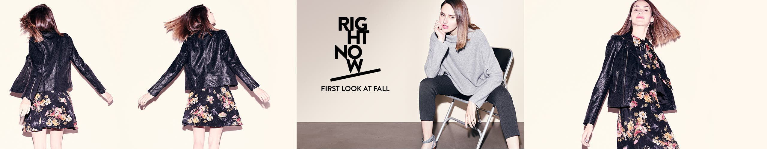 Right now: first look at contemporary fall clothing.