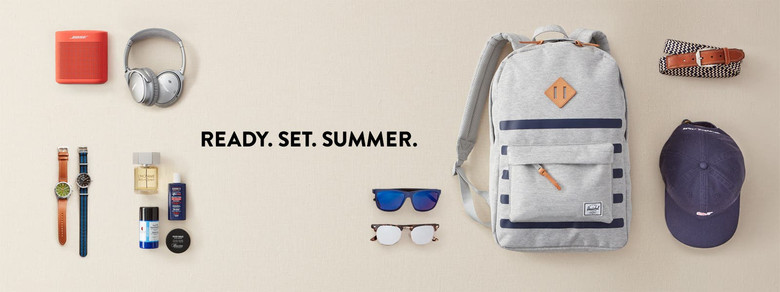 Summer-ready accessories for men.