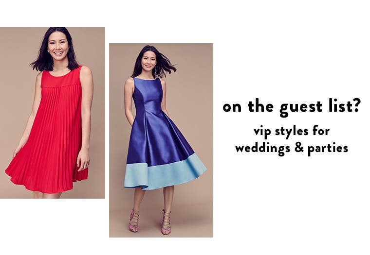 On the guest list? VIP styles for weddings and parties.