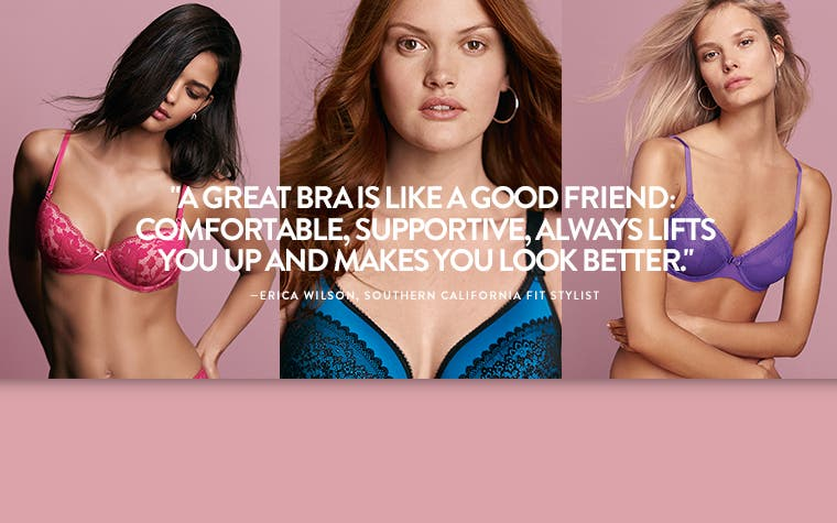 Pretty uplifting: great-fitting bras.