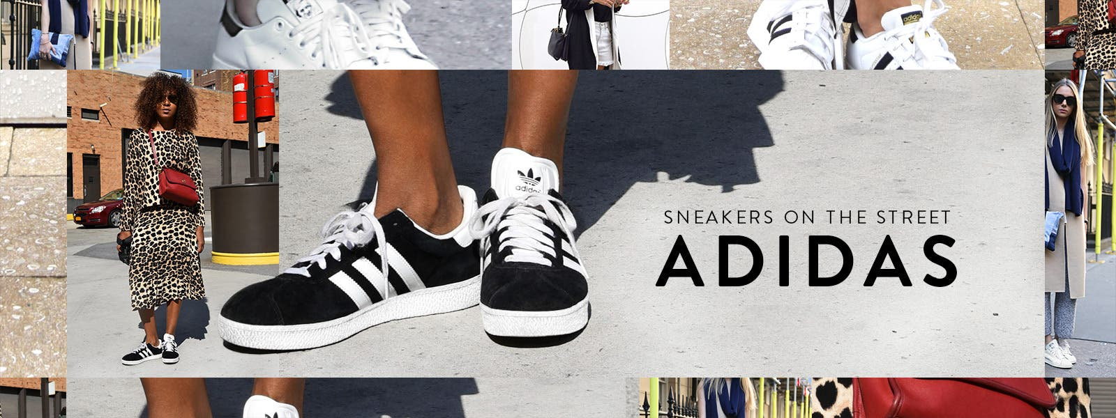 adidas women's sneakers on the street.