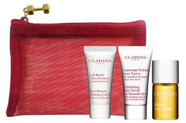 Receive a free 4-piece bonus gift with your Clarins Body Fit Anti-Cellulite Contouring Expert purchase