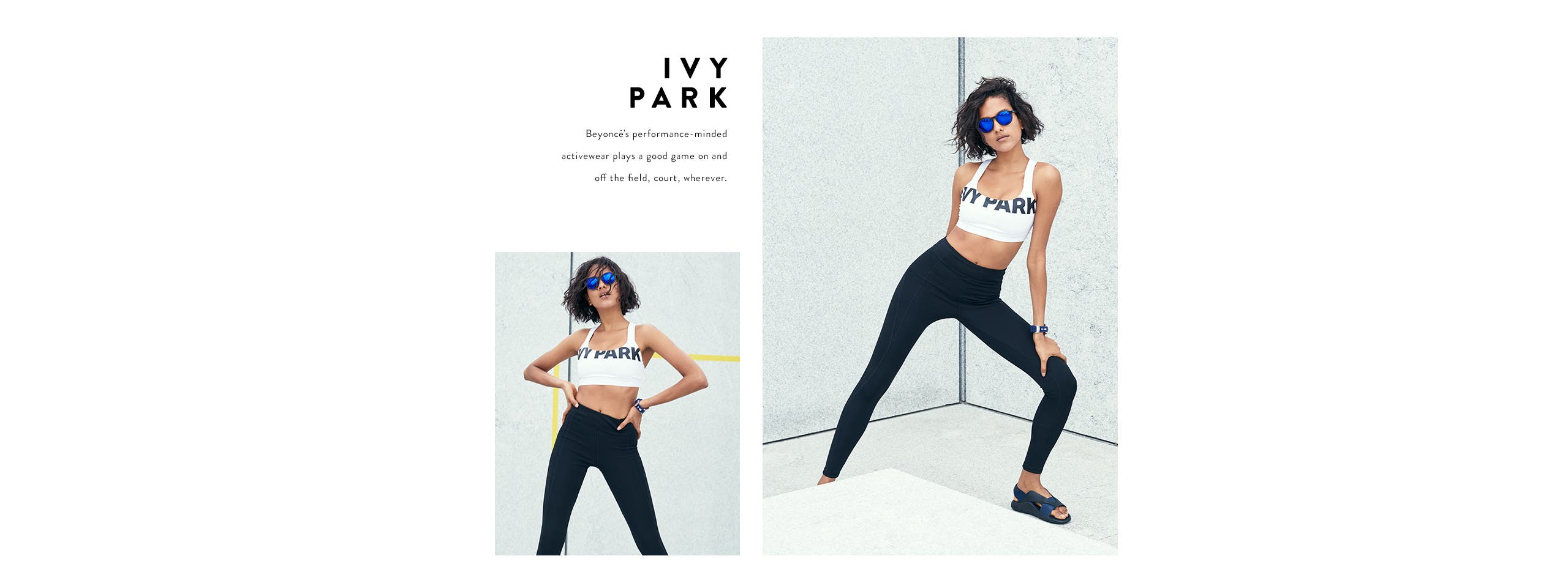 IVY PARK activewear for women.