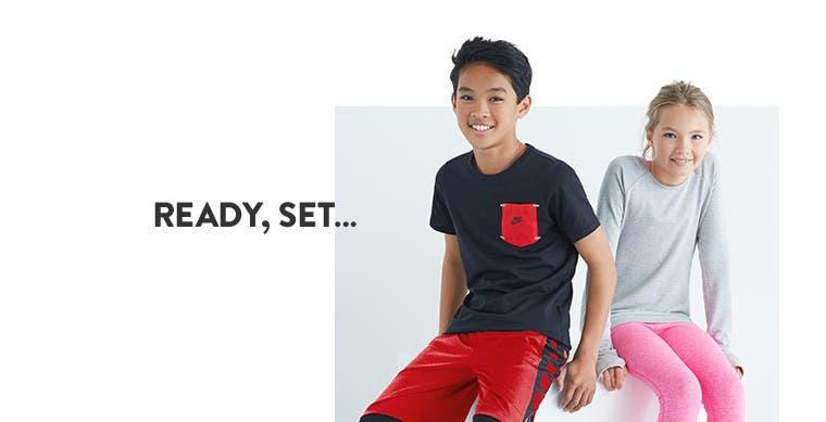 Ready, set, go in kids' activewear.