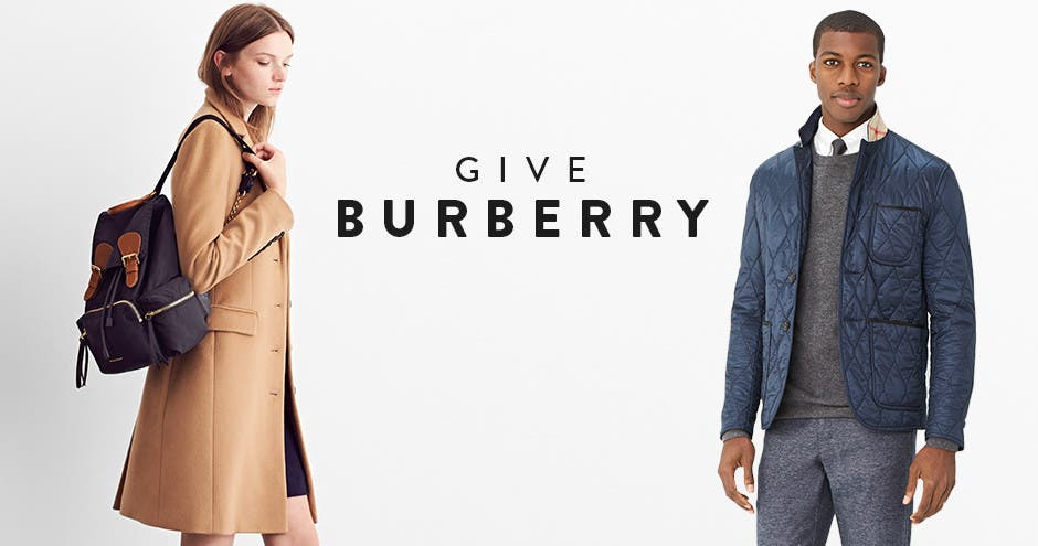 Give Burberry, holiday 2016.