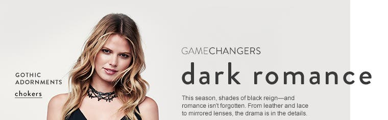 Gamechangers: women's fall accessories are dark and romantic.
