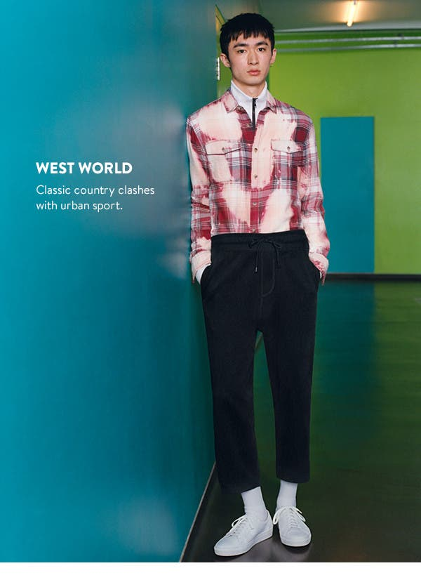 West world: Classic country clashes with urban sport.