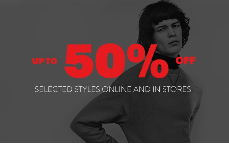 Up to 50% off selected styles from Topman online and in stores.