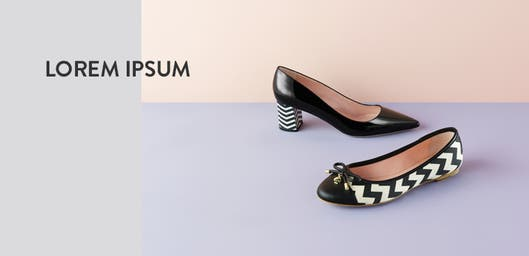Fresh foundation: black and white shoes.