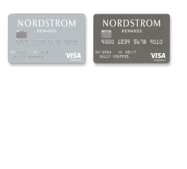 Nordstrom Visa Platinum or Visa Signature credit cards