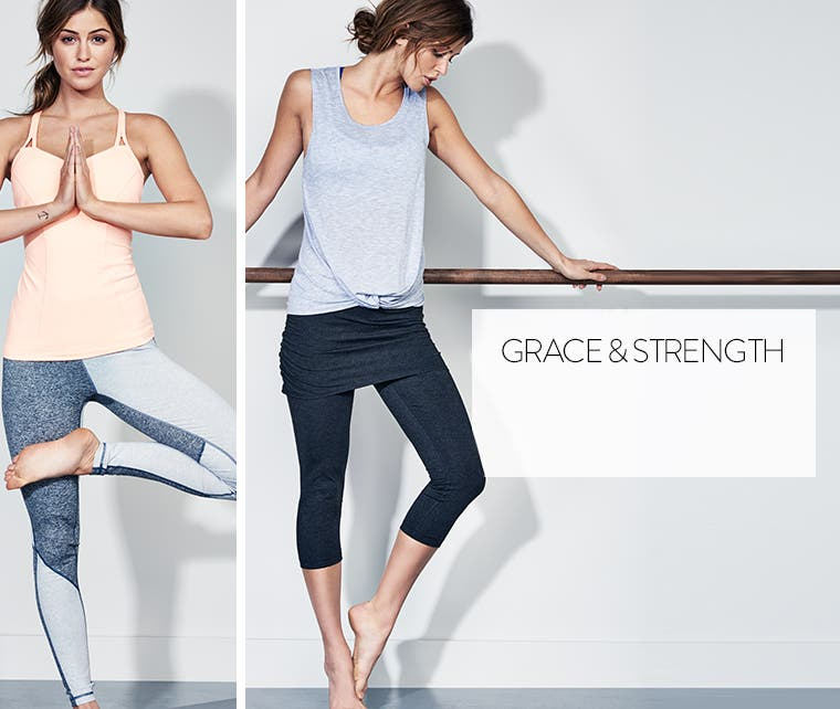 Grace and strength: Zella workout clothes.