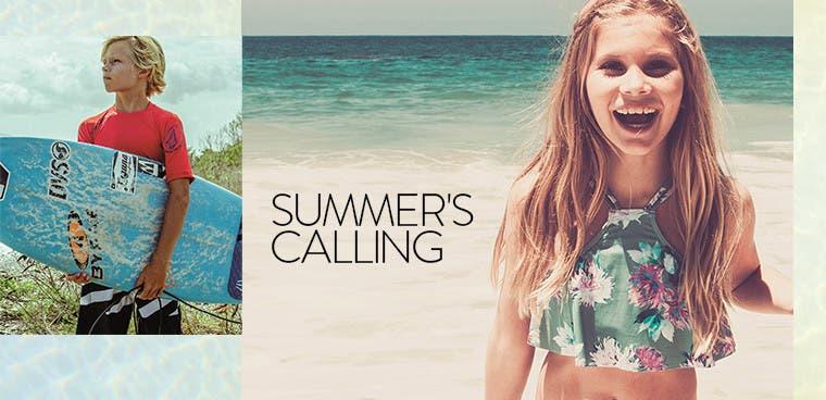 Summer's calling.