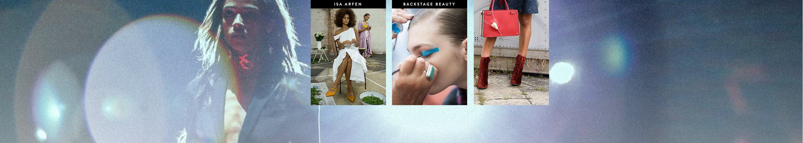 Spring 2017 fashion week: Isa Arfen. Backstage beauty: tips, trends, tools of the trade. Street style on the ground.