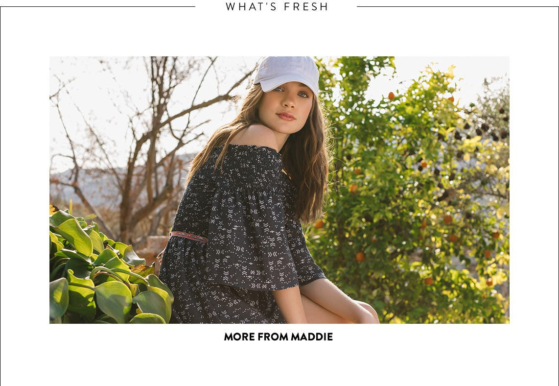 Tween girl clothing from Maddie and more.