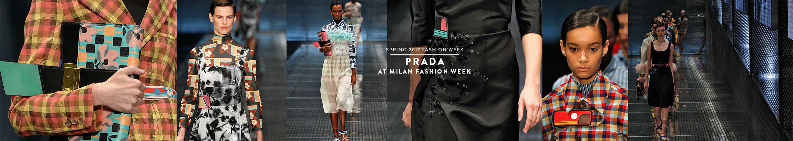 Prada at Milan Fashion Week, spring 2017.