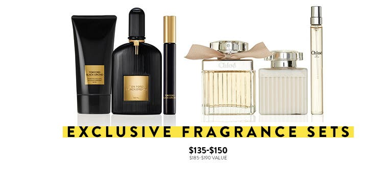 Exclusive fragrance sets.