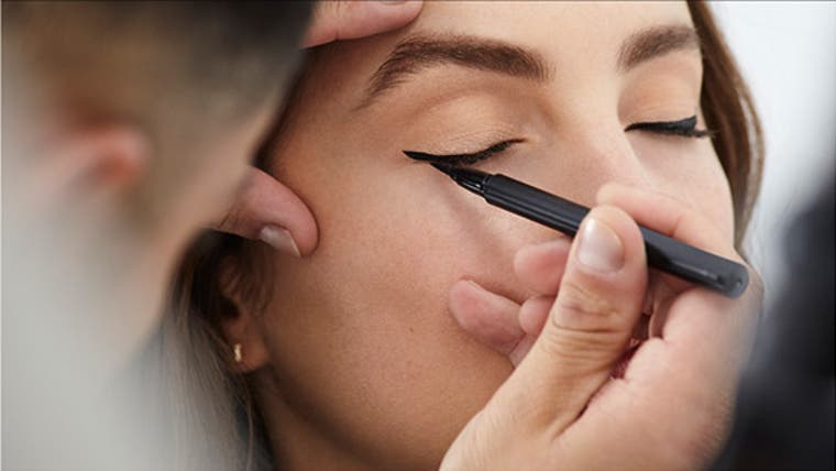 Master winged eyeliner.