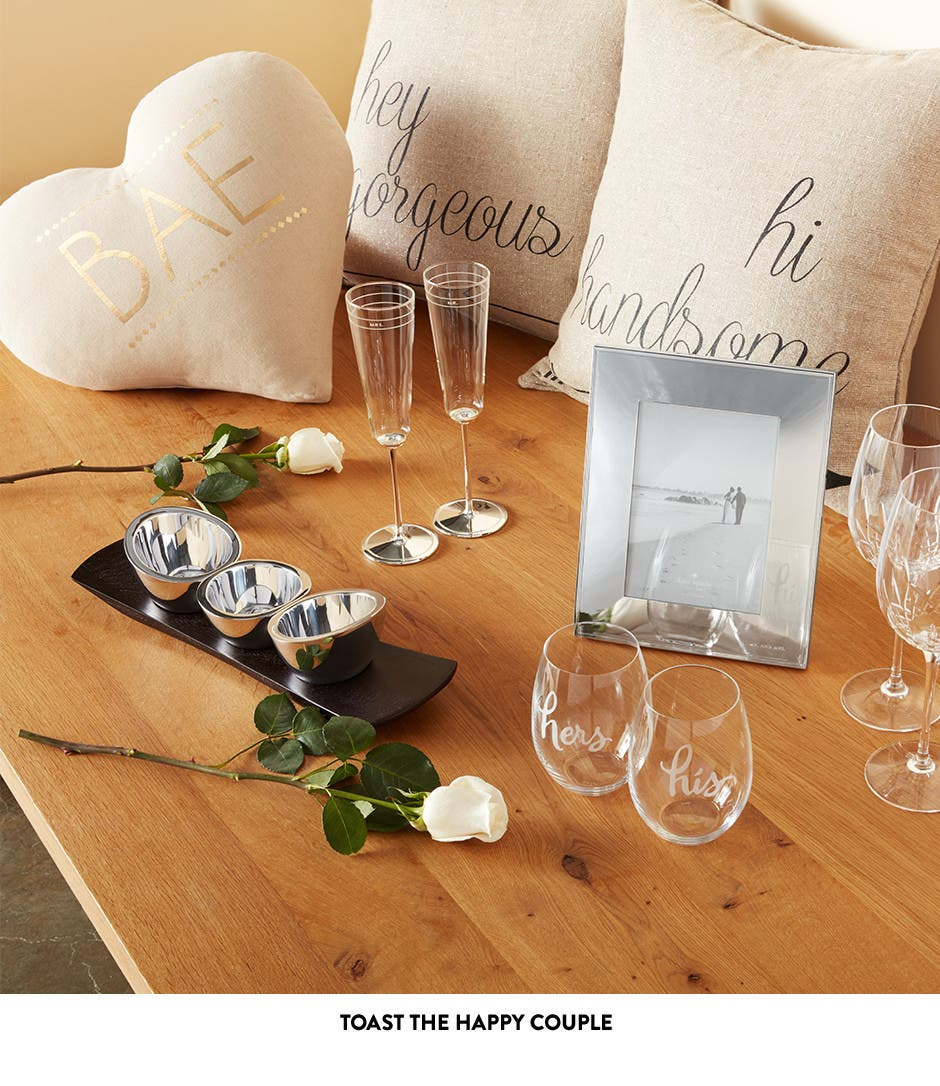 Toast the happy couple with great wedding gifts.
