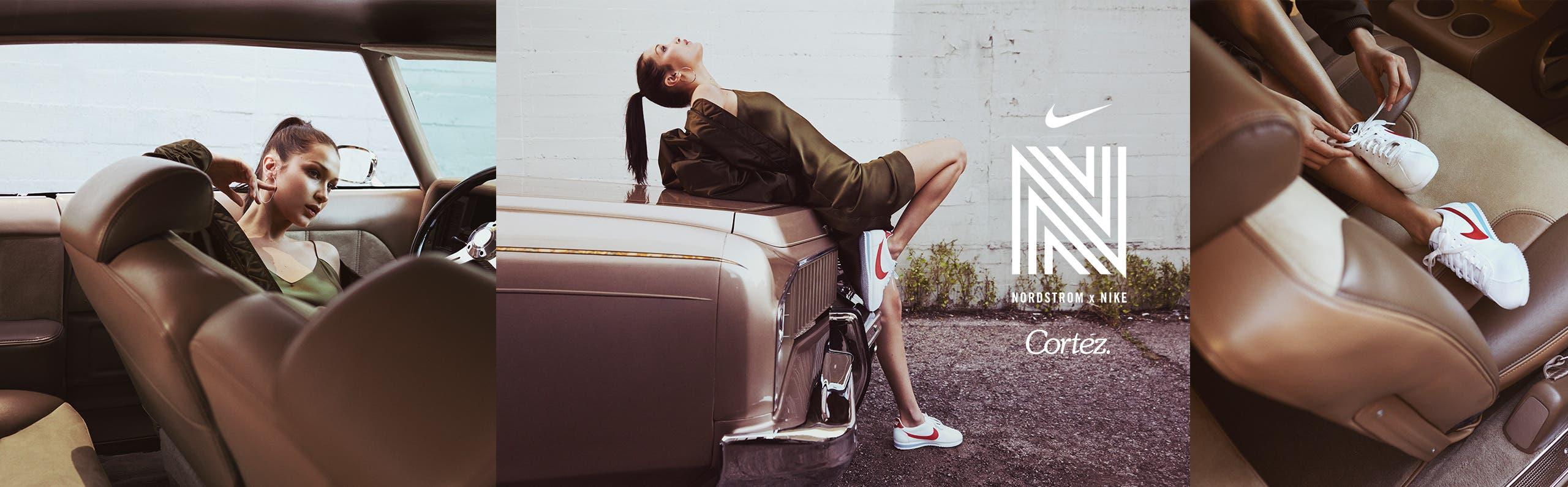 Nordstrom x Nike Cortez.