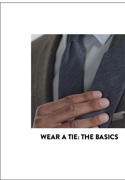 How to wear a tie.