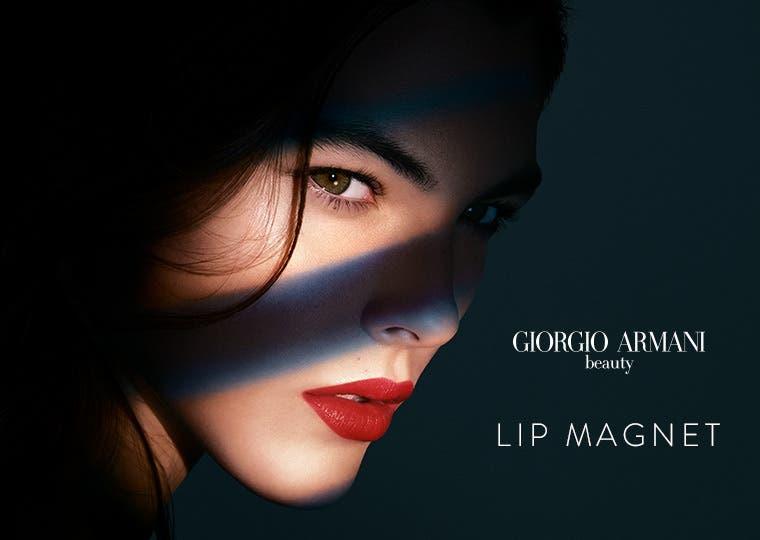 Giorgio Armani Lip Magnet liquid lipstick.