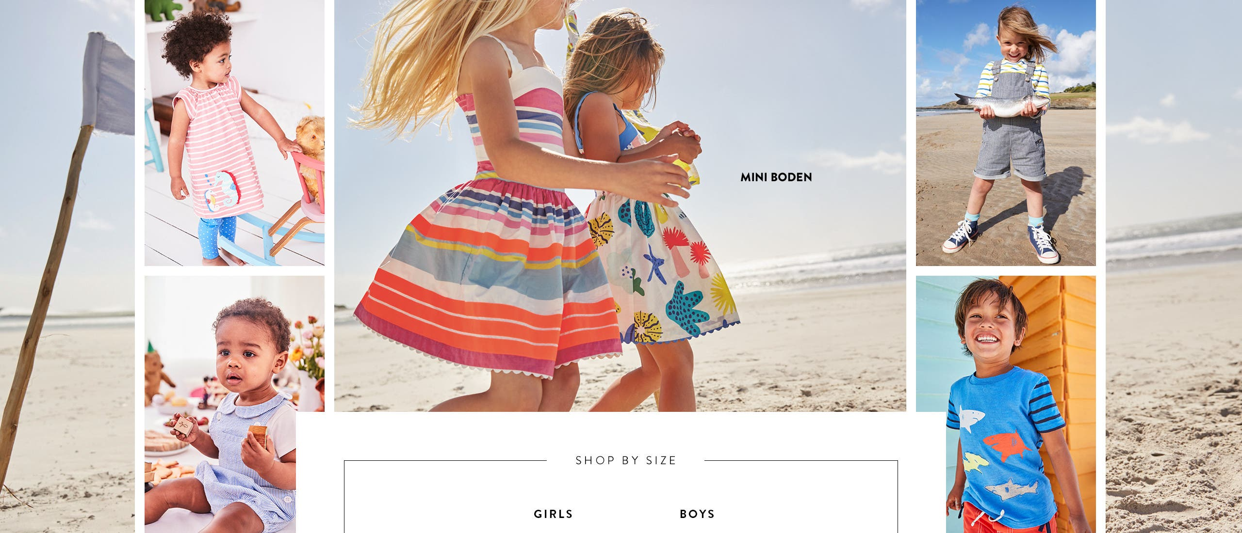 Mini Boden clothing and shoes for kids and babies.