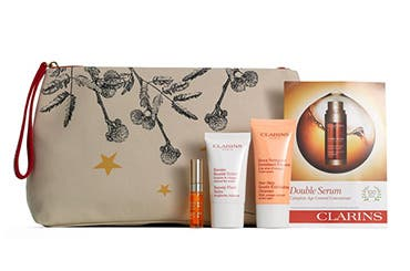 Receive a free 5-piece bonus gift with your $60 Clarins purchase