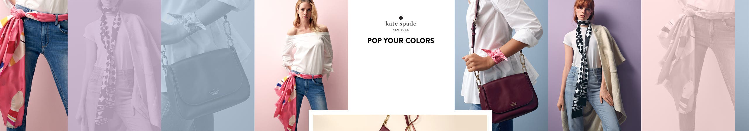 Pop your colors: bright accessories with white tops.