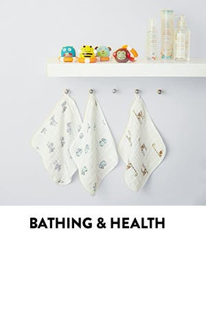 Baby bathing and health.