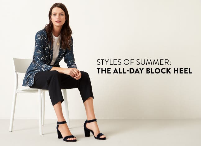 The styles of summer: block heel.