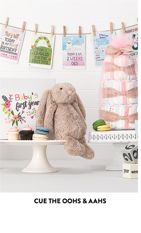 Cute baby shower gifts. Cue the oohs and aahs.