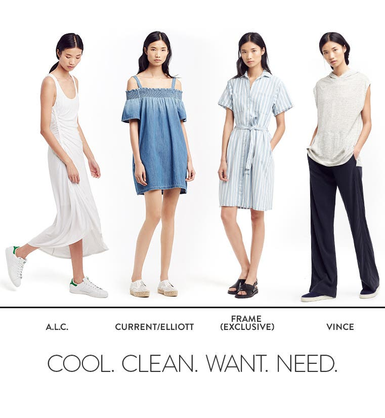 Cool, clean, want, need: looks from A.L.C. and more.