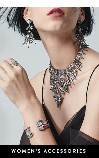Shiny party-season accessories.