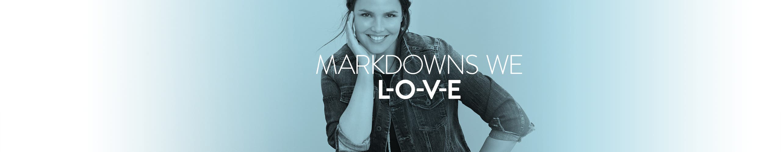 Plus-size women's clothing markdowns we l-o-v-e.